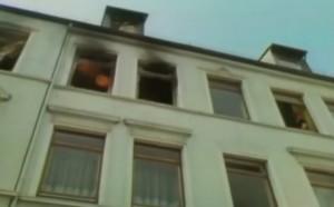 Das Brandhaus in der Zeißstraße 74