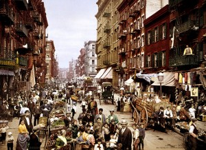 Mulberry Street in Little Italy, New York, 1900