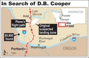 D.B. Cooper - Karte