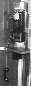 Der Telefonapparat an der Main Street in Napa