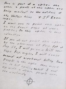 Zodiac Killer - Brief 31.7.1969