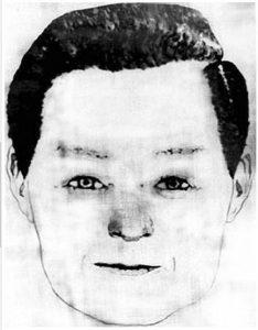 Das erste Phantombild vom Zodiac Killer nach den Zeugenaussagen im Zuge der Attacke am Lake Berryessa