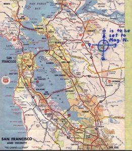 Mount Diablo-Karte vom 26. Juni 1970
