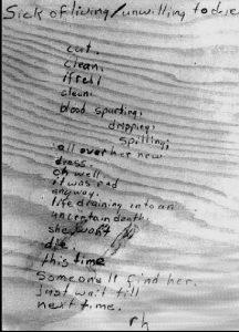 Gedicht in der Bibliothek