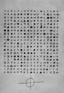 Zodiac Karte vom 8.11.1969 Code