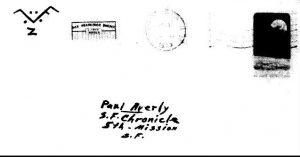 Karte vom 27. Oktober 1970, Briefumschlag