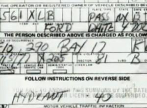 David Berkowitz - Strafzettel